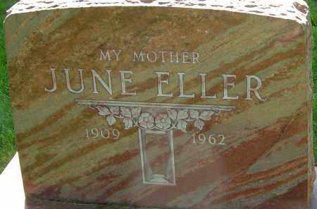 ELLER, JUNE - Montgomery County, Ohio | JUNE ELLER - Ohio Gravestone Photos
