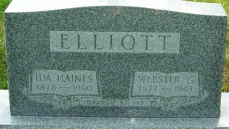 ELLIOTT, WEBSTER G - Montgomery County, Ohio | WEBSTER G ELLIOTT - Ohio Gravestone Photos