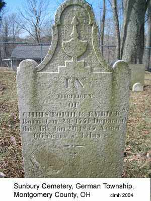 EMRICK, CHRISTOPHER - Montgomery County, Ohio | CHRISTOPHER EMRICK - Ohio Gravestone Photos
