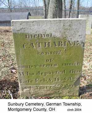 EMRICK, CATHARINE - Montgomery County, Ohio   CATHARINE EMRICK - Ohio Gravestone Photos