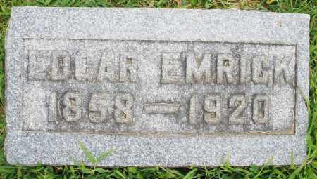 EMRICK, EDGAR - Montgomery County, Ohio | EDGAR EMRICK - Ohio Gravestone Photos