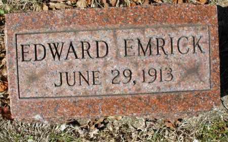 EMRICK, EDWARD - Montgomery County, Ohio   EDWARD EMRICK - Ohio Gravestone Photos