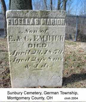 EMRICK, FIDELLAS MARION - Montgomery County, Ohio   FIDELLAS MARION EMRICK - Ohio Gravestone Photos