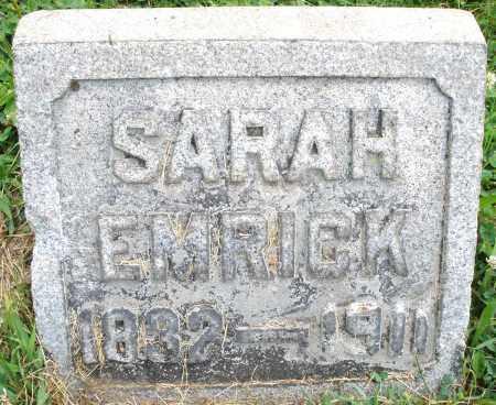 EMRICK, SARAH - Montgomery County, Ohio   SARAH EMRICK - Ohio Gravestone Photos