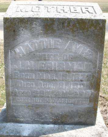 ERISMAN, HATTIE - Montgomery County, Ohio | HATTIE ERISMAN - Ohio Gravestone Photos