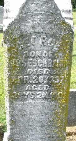 ESCHBACH, GEORGE - Montgomery County, Ohio | GEORGE ESCHBACH - Ohio Gravestone Photos