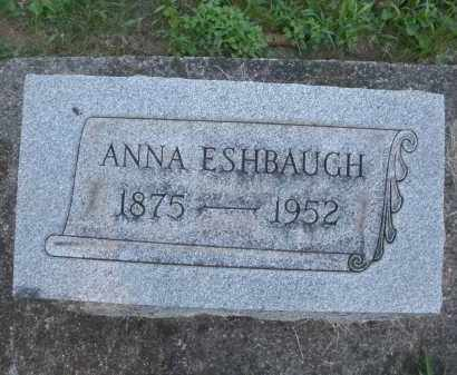 ESHBAUGH, ANNA - Montgomery County, Ohio   ANNA ESHBAUGH - Ohio Gravestone Photos