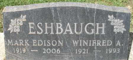 ESHBAUGH, WINIFRED A. - Montgomery County, Ohio | WINIFRED A. ESHBAUGH - Ohio Gravestone Photos