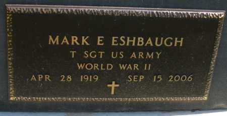 ESHBAUGH, MARK E. - Montgomery County, Ohio | MARK E. ESHBAUGH - Ohio Gravestone Photos