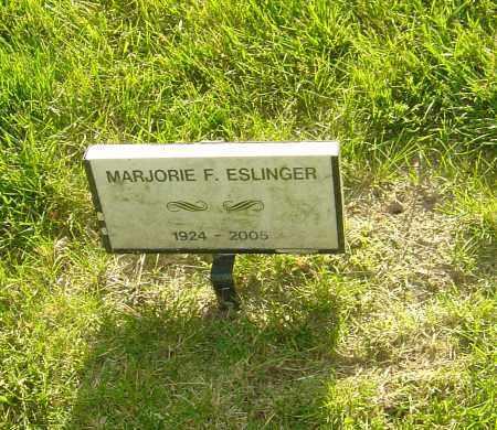 ESLINGER, MARJORIE F - Montgomery County, Ohio | MARJORIE F ESLINGER - Ohio Gravestone Photos