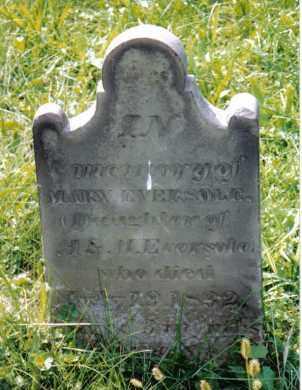 EVERSOLE, MARY - Montgomery County, Ohio | MARY EVERSOLE - Ohio Gravestone Photos