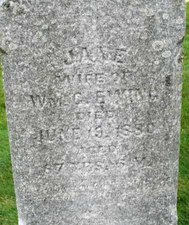 EWING, JANE - Montgomery County, Ohio | JANE EWING - Ohio Gravestone Photos