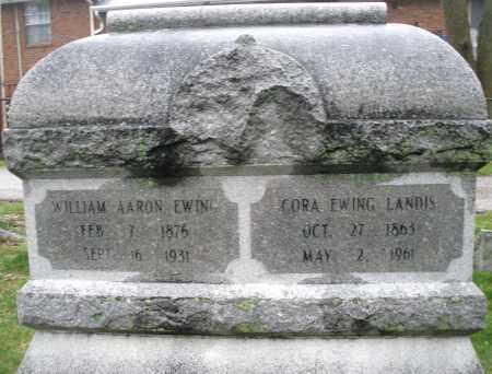 EWING, WILLIAM AARON - Montgomery County, Ohio | WILLIAM AARON EWING - Ohio Gravestone Photos