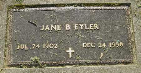 EYLER, JANE B - Montgomery County, Ohio   JANE B EYLER - Ohio Gravestone Photos