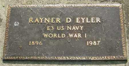 EYLER, RAYNER D - Montgomery County, Ohio   RAYNER D EYLER - Ohio Gravestone Photos