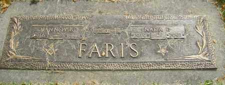 LAYFORD FARIS, NADA F - Montgomery County, Ohio   NADA F LAYFORD FARIS - Ohio Gravestone Photos