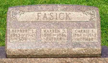 FASICK, WARREN D. - Montgomery County, Ohio | WARREN D. FASICK - Ohio Gravestone Photos