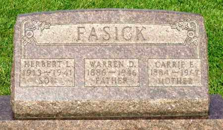 FASICK, CARRIE E. - Montgomery County, Ohio | CARRIE E. FASICK - Ohio Gravestone Photos