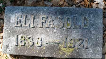 FASOLD, ELI - Montgomery County, Ohio | ELI FASOLD - Ohio Gravestone Photos