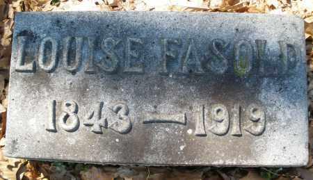 FASOLD, LOUISE - Montgomery County, Ohio   LOUISE FASOLD - Ohio Gravestone Photos