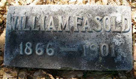 FASOLD, WILLIAM - Montgomery County, Ohio | WILLIAM FASOLD - Ohio Gravestone Photos