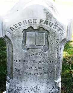 FAUST, GEORGE - Montgomery County, Ohio | GEORGE FAUST - Ohio Gravestone Photos