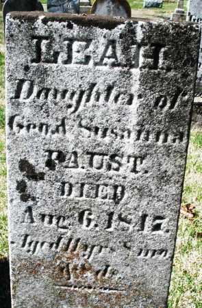 FAUST, LEAH - Montgomery County, Ohio   LEAH FAUST - Ohio Gravestone Photos