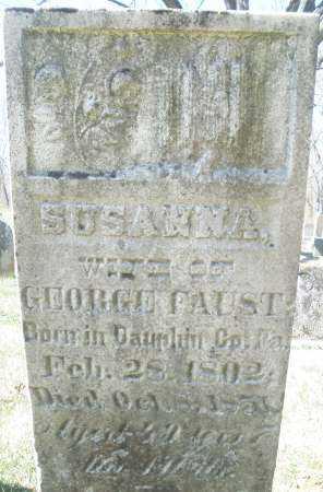 FAUST, SUSANNA - Montgomery County, Ohio   SUSANNA FAUST - Ohio Gravestone Photos