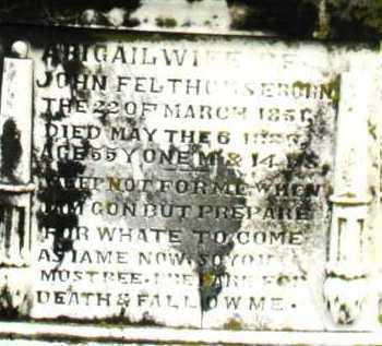 FELTHOMSE, ABIGAIL - Montgomery County, Ohio | ABIGAIL FELTHOMSE - Ohio Gravestone Photos
