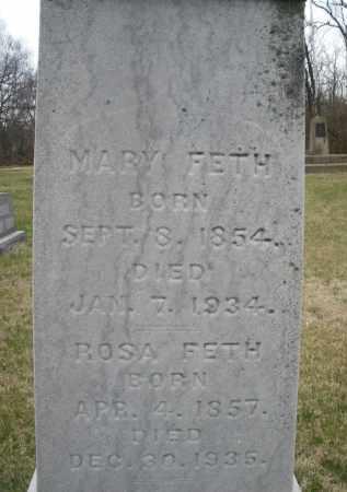 FETH, MARY - Montgomery County, Ohio   MARY FETH - Ohio Gravestone Photos