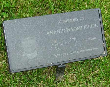 FILIPE, ANAHID NAOMI - Montgomery County, Ohio   ANAHID NAOMI FILIPE - Ohio Gravestone Photos