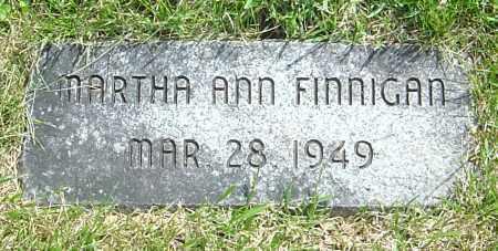 FINNIGAN, MARTHA ANN - Montgomery County, Ohio   MARTHA ANN FINNIGAN - Ohio Gravestone Photos