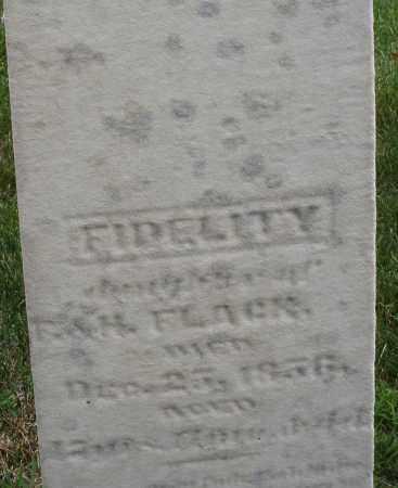 FLACK, FIDELITY - Montgomery County, Ohio | FIDELITY FLACK - Ohio Gravestone Photos