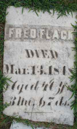 FLACK, FRED - Montgomery County, Ohio   FRED FLACK - Ohio Gravestone Photos