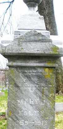FOLEY, MARY J. - Montgomery County, Ohio   MARY J. FOLEY - Ohio Gravestone Photos