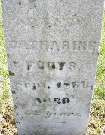 FOUTS, CATHARINE - Montgomery County, Ohio | CATHARINE FOUTS - Ohio Gravestone Photos