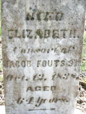 FOUTS, ELIZABETH - Montgomery County, Ohio   ELIZABETH FOUTS - Ohio Gravestone Photos