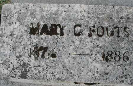FOUTS, MARY C. - Montgomery County, Ohio   MARY C. FOUTS - Ohio Gravestone Photos