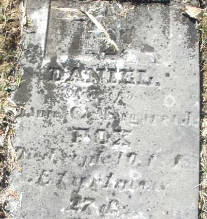 FOX, DANIEL - Montgomery County, Ohio   DANIEL FOX - Ohio Gravestone Photos