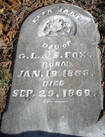 FOX, EFFA JANE ? - Montgomery County, Ohio | EFFA JANE ? FOX - Ohio Gravestone Photos
