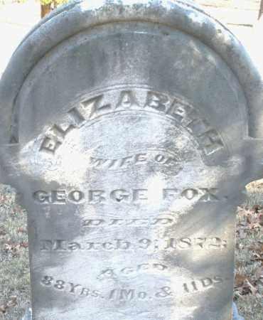 FOX, ELIZABETH - Montgomery County, Ohio | ELIZABETH FOX - Ohio Gravestone Photos