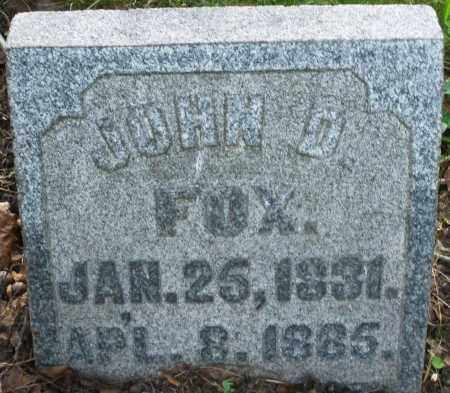 FOX, JOHN D. - Montgomery County, Ohio | JOHN D. FOX - Ohio Gravestone Photos