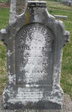 FOX, SYLVESTER - Montgomery County, Ohio | SYLVESTER FOX - Ohio Gravestone Photos
