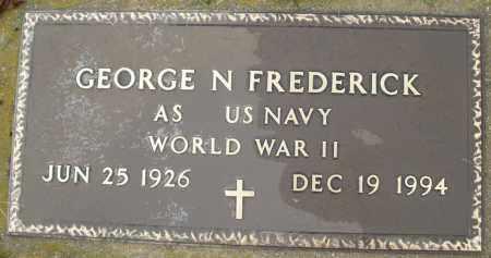 FREDERICK, GEORGE N. - Montgomery County, Ohio   GEORGE N. FREDERICK - Ohio Gravestone Photos