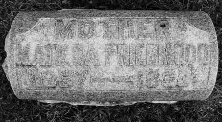 FRIERMOOD, MATILDA - Montgomery County, Ohio   MATILDA FRIERMOOD - Ohio Gravestone Photos