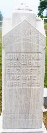 FRYMAN, JOHN - Montgomery County, Ohio | JOHN FRYMAN - Ohio Gravestone Photos