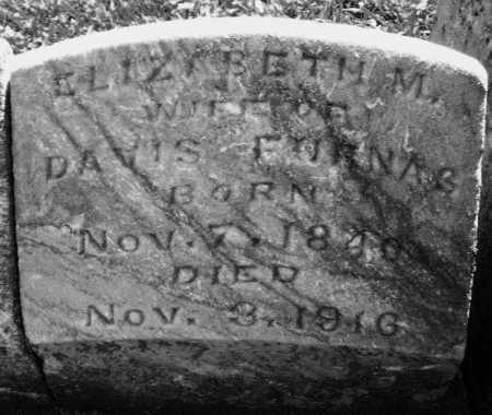 FURNAS, ELIZABETH M. - Montgomery County, Ohio   ELIZABETH M. FURNAS - Ohio Gravestone Photos