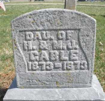GABLE, DAUGHTER - Montgomery County, Ohio   DAUGHTER GABLE - Ohio Gravestone Photos