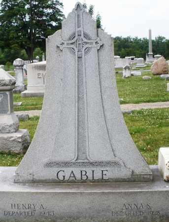 GABLE, ANNA S. - Montgomery County, Ohio | ANNA S. GABLE - Ohio Gravestone Photos