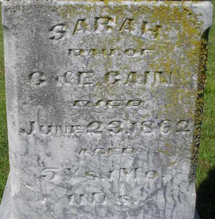 GAIN, SARAH - Montgomery County, Ohio   SARAH GAIN - Ohio Gravestone Photos